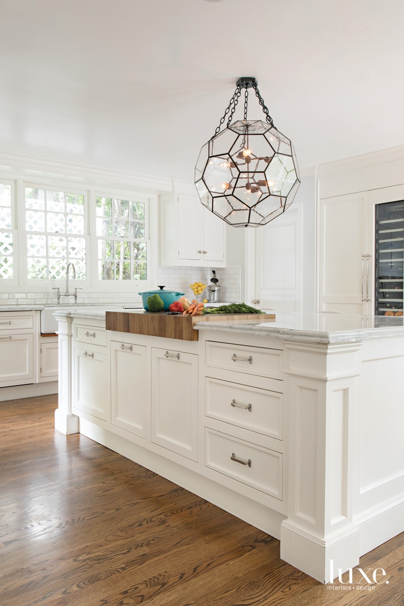 traditional white kitchen white cabinetry