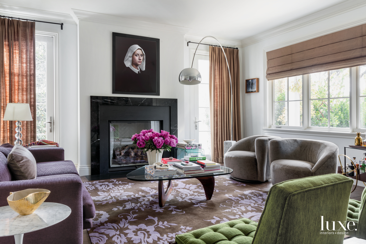 eclectic living room neutral with...