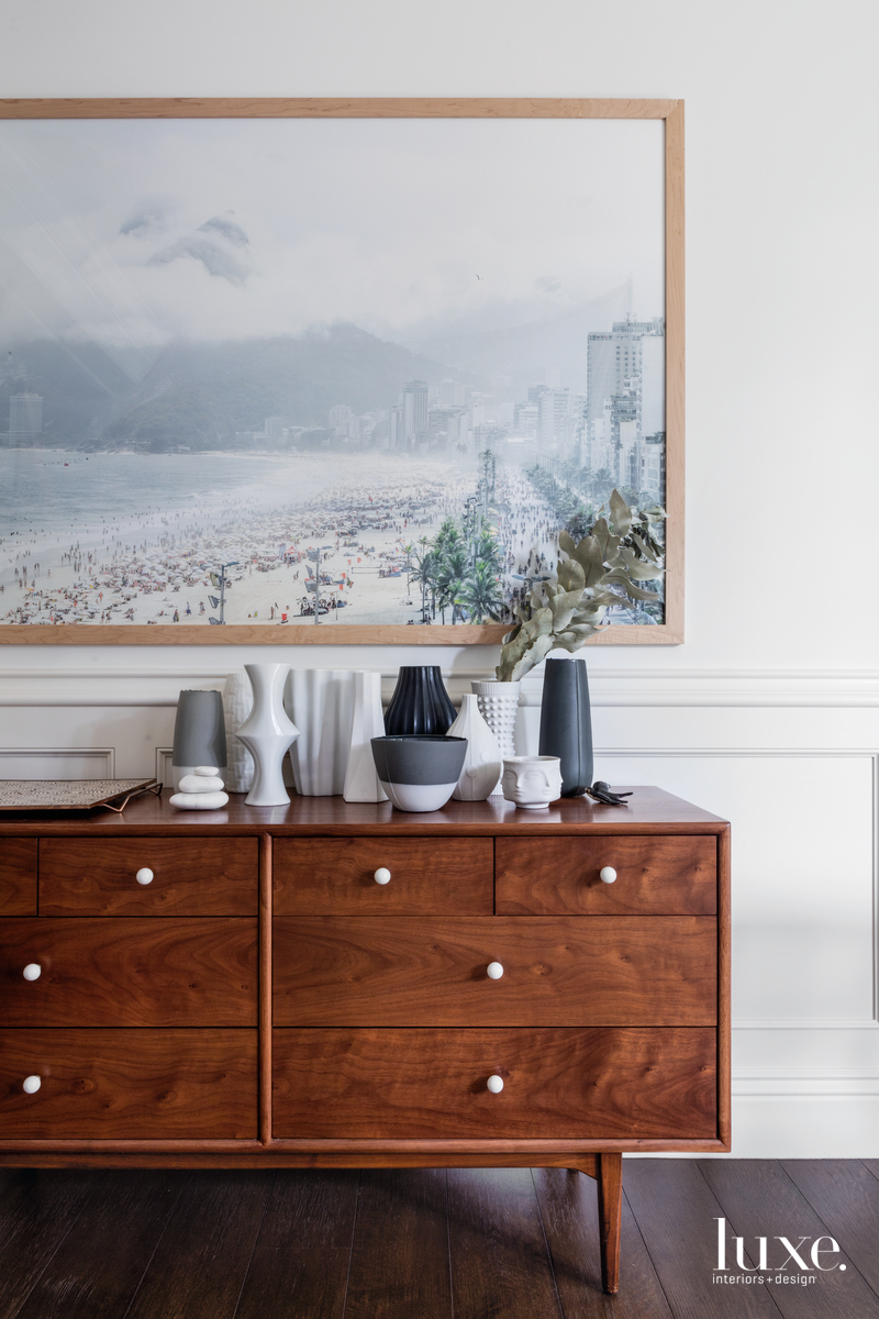 eclectic dining room sideboard ceramic...