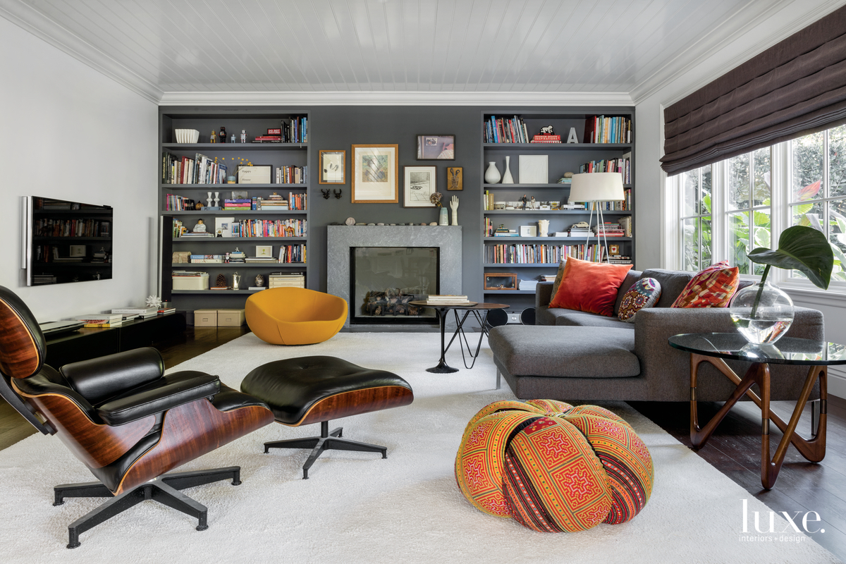 eclectic gray living room