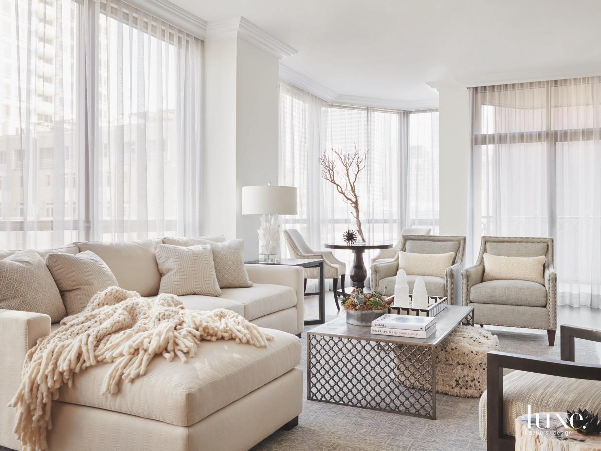 contemporary neutral living room