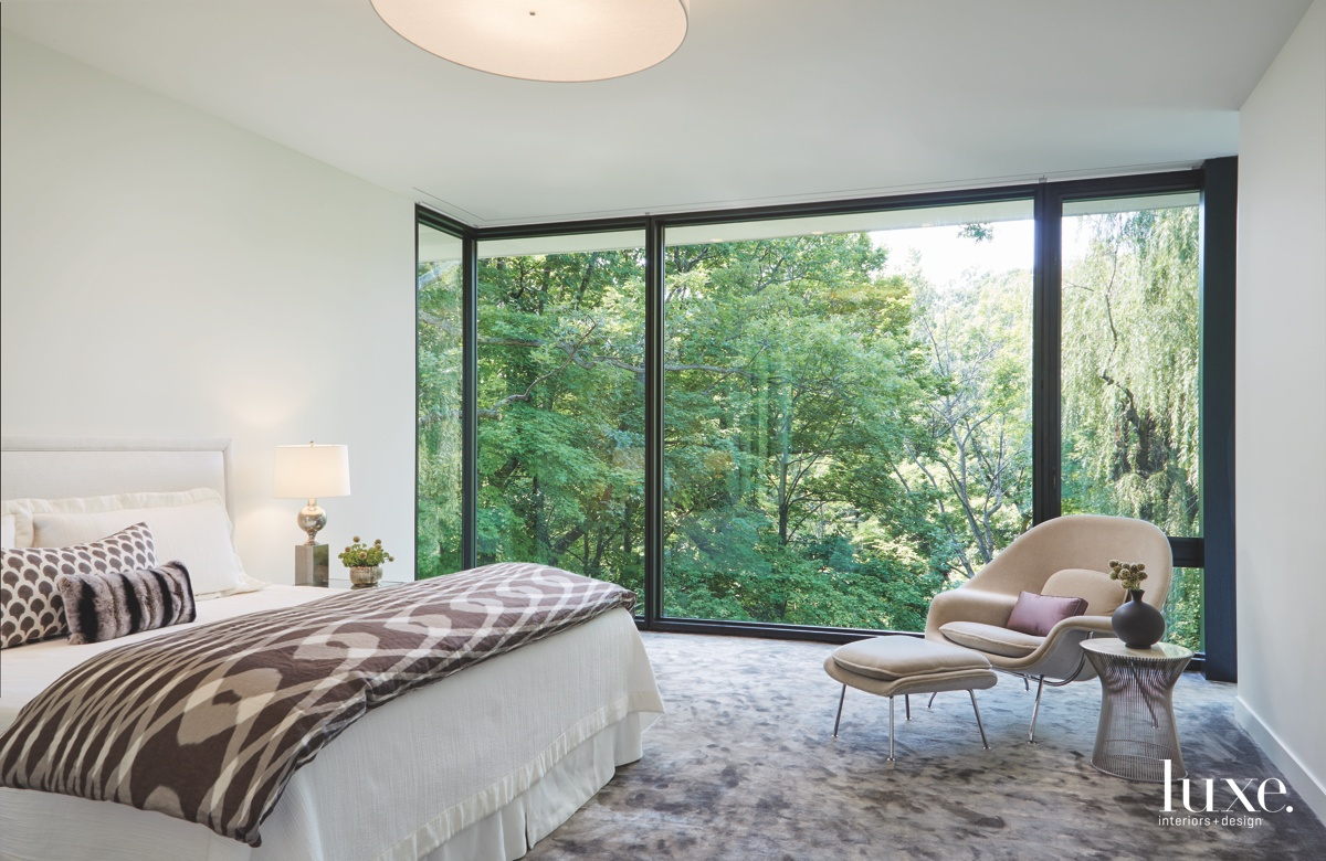 modern neutral bedroom floor to...