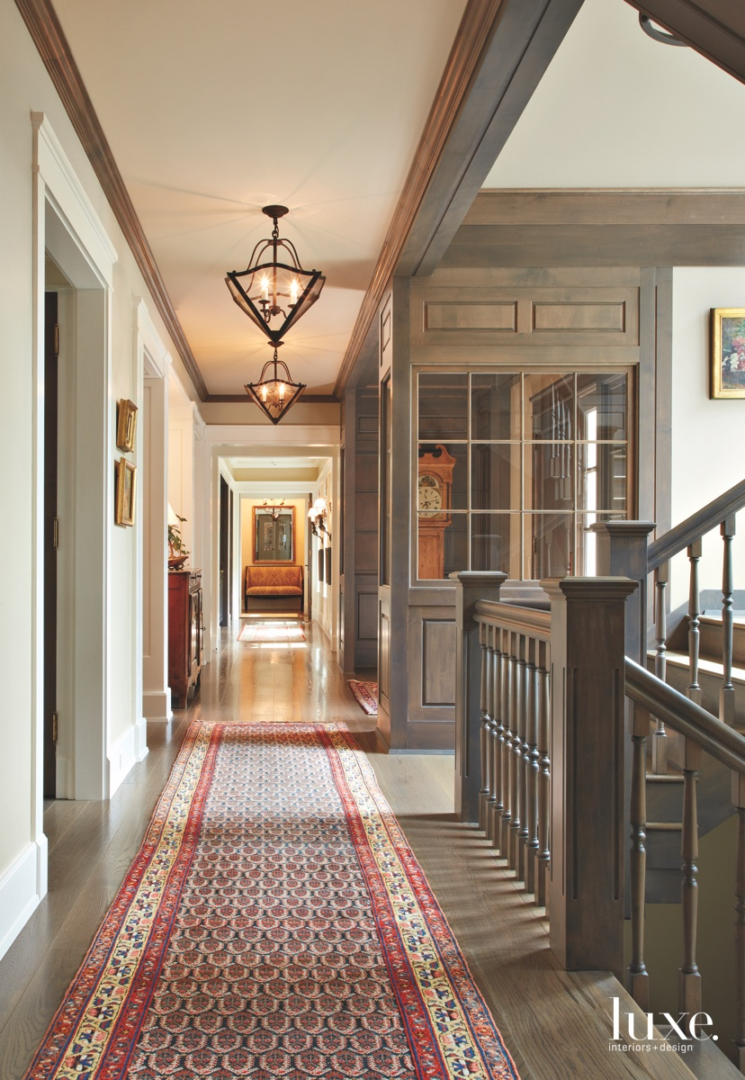 traditional entry hallway Persian rug...