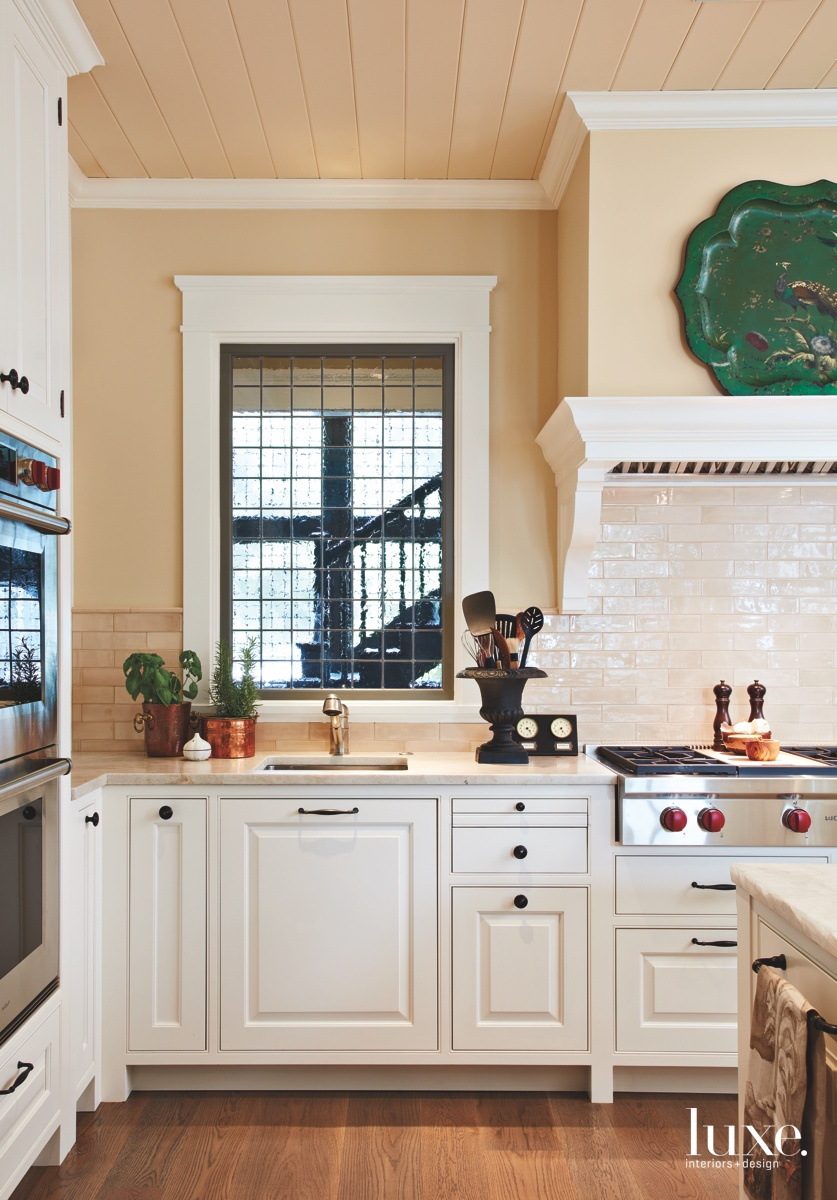traditional neutral kitchen white cabinery