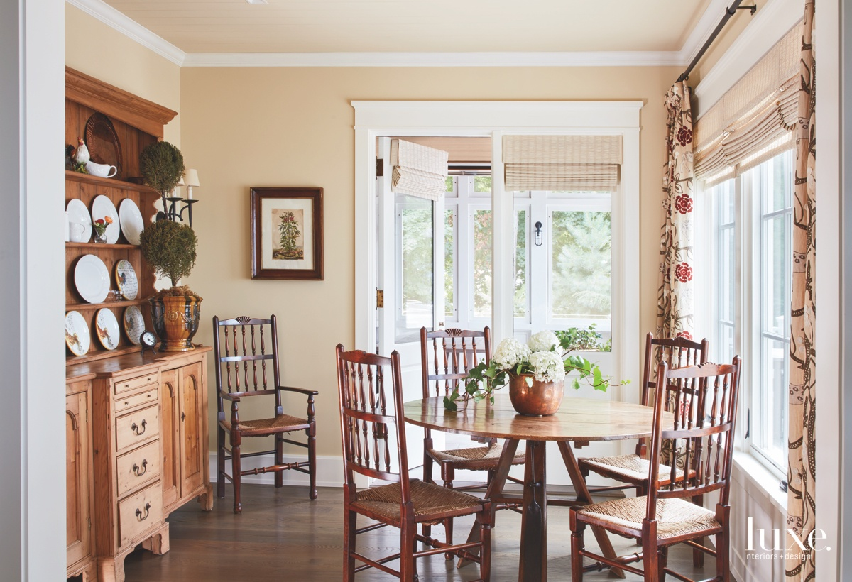 traditional neutral dining area antique...