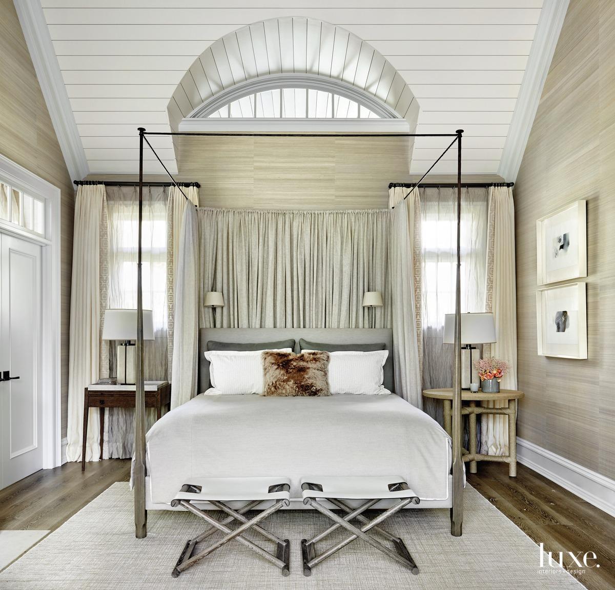 transitional bedroom neutral palette white...