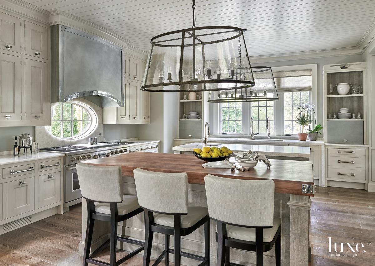 transitional neutral kitchen oak flooring
