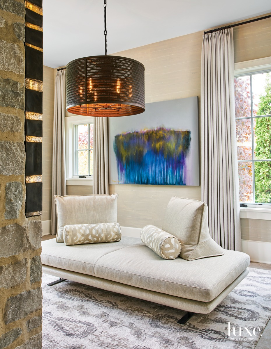 traditional entry foyer sitting area...