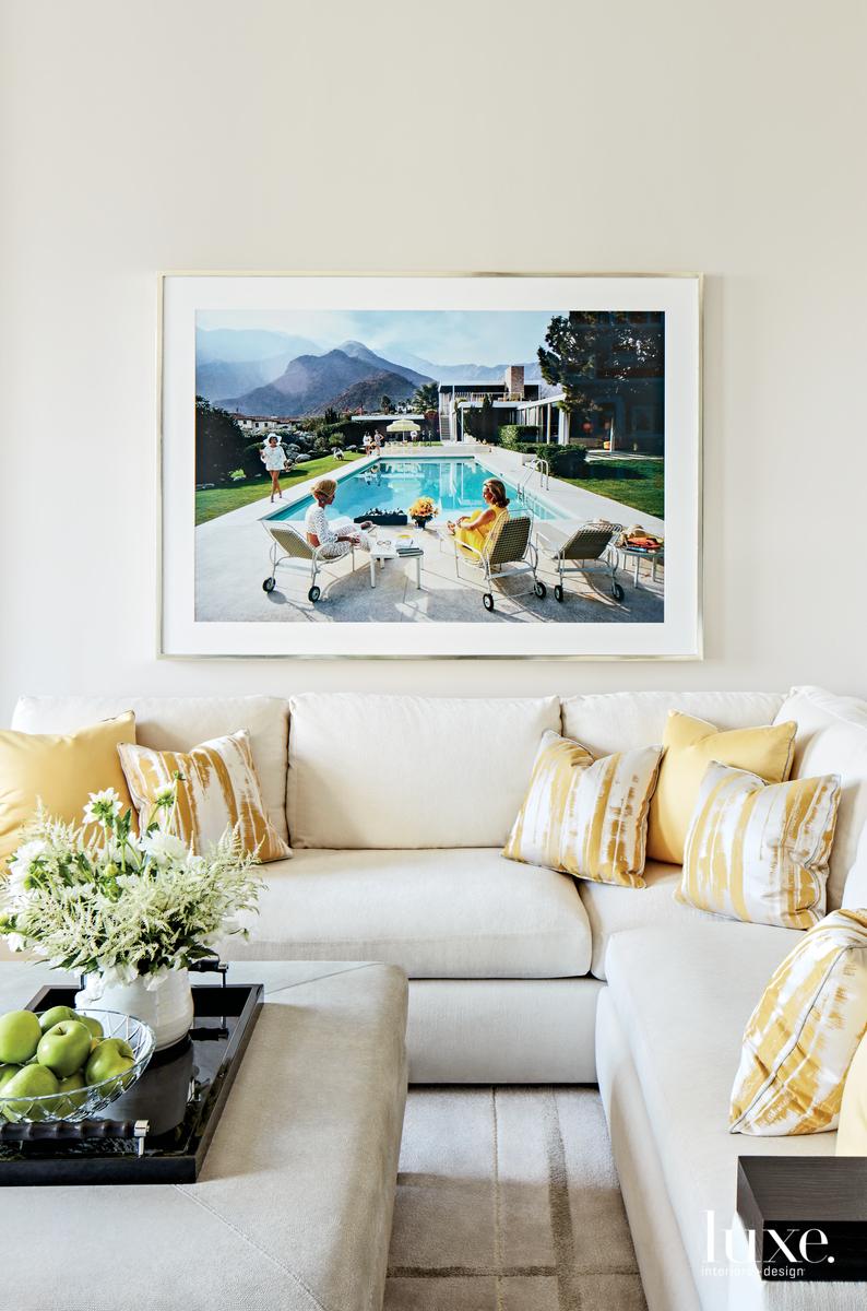 contemporary living room white sofa...
