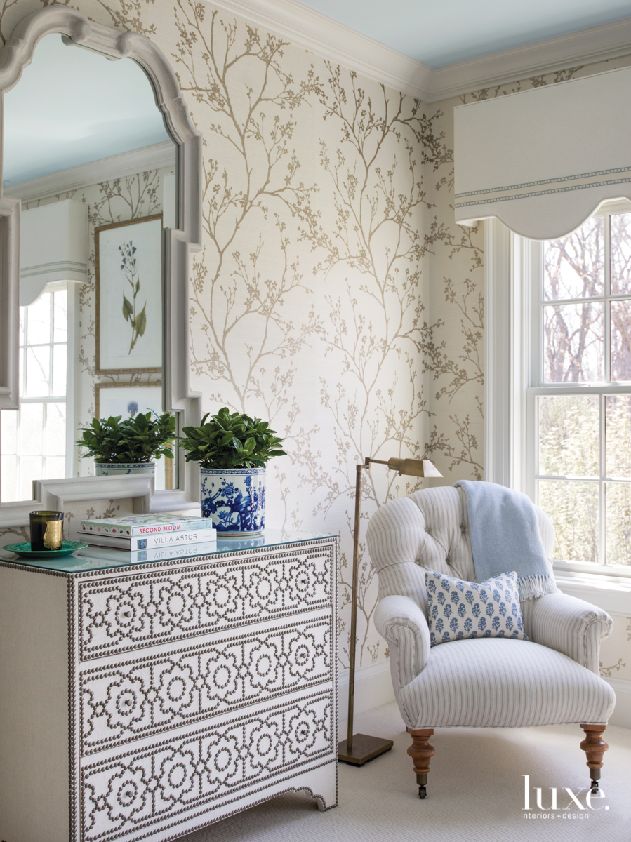 traditional sitting area in neutral...