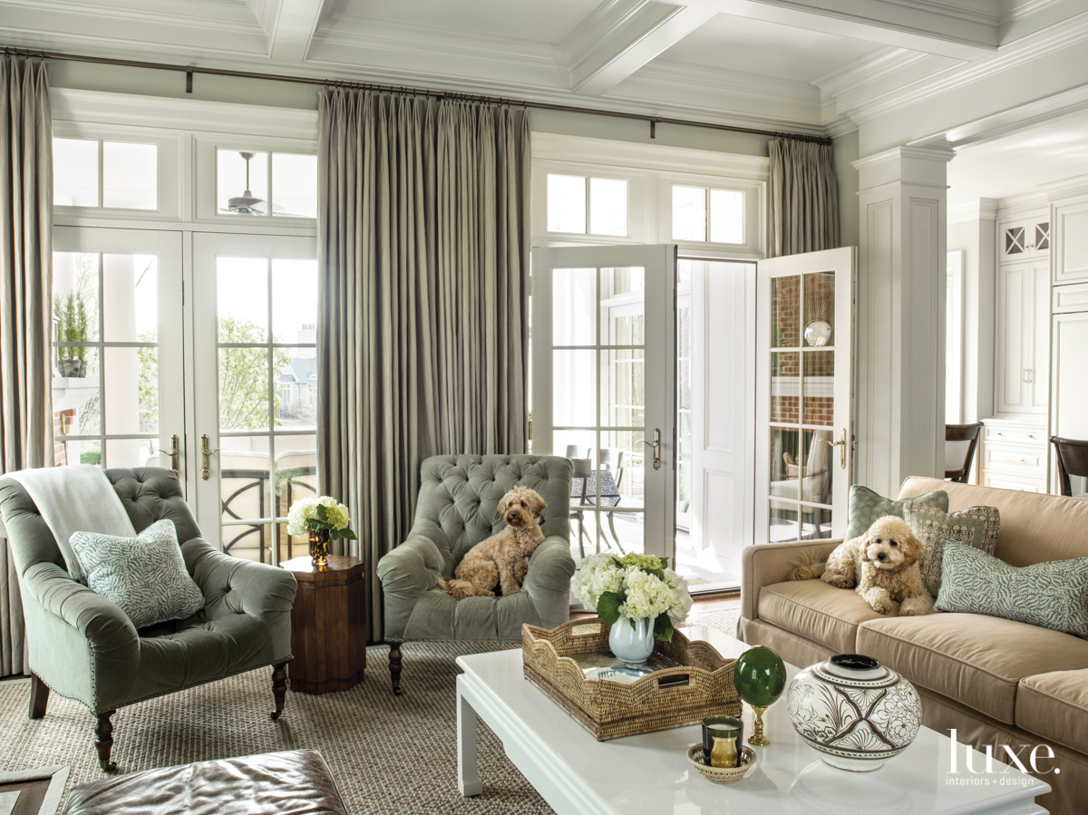 traditional living room neutral palette