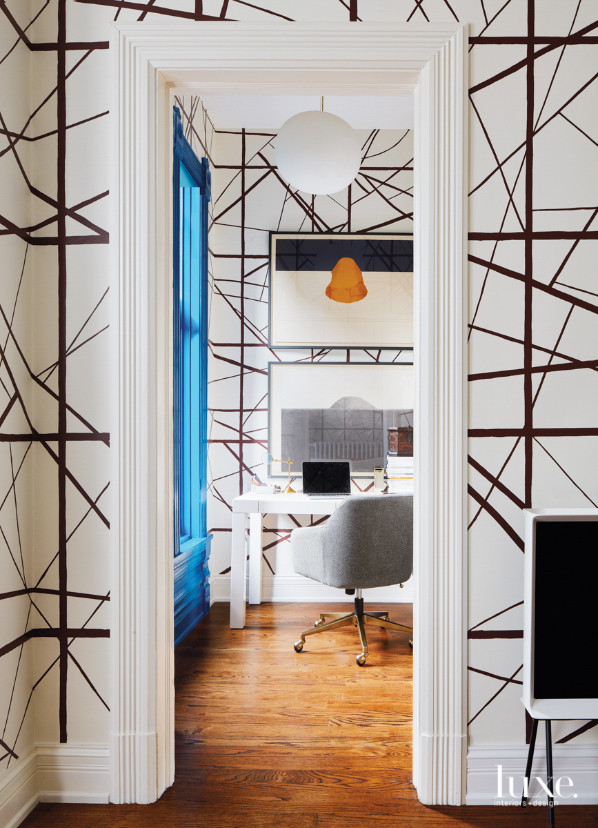 contemporary living room black and...