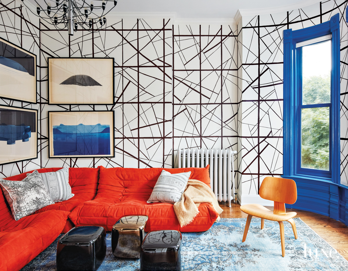 contemporary living room multi-color