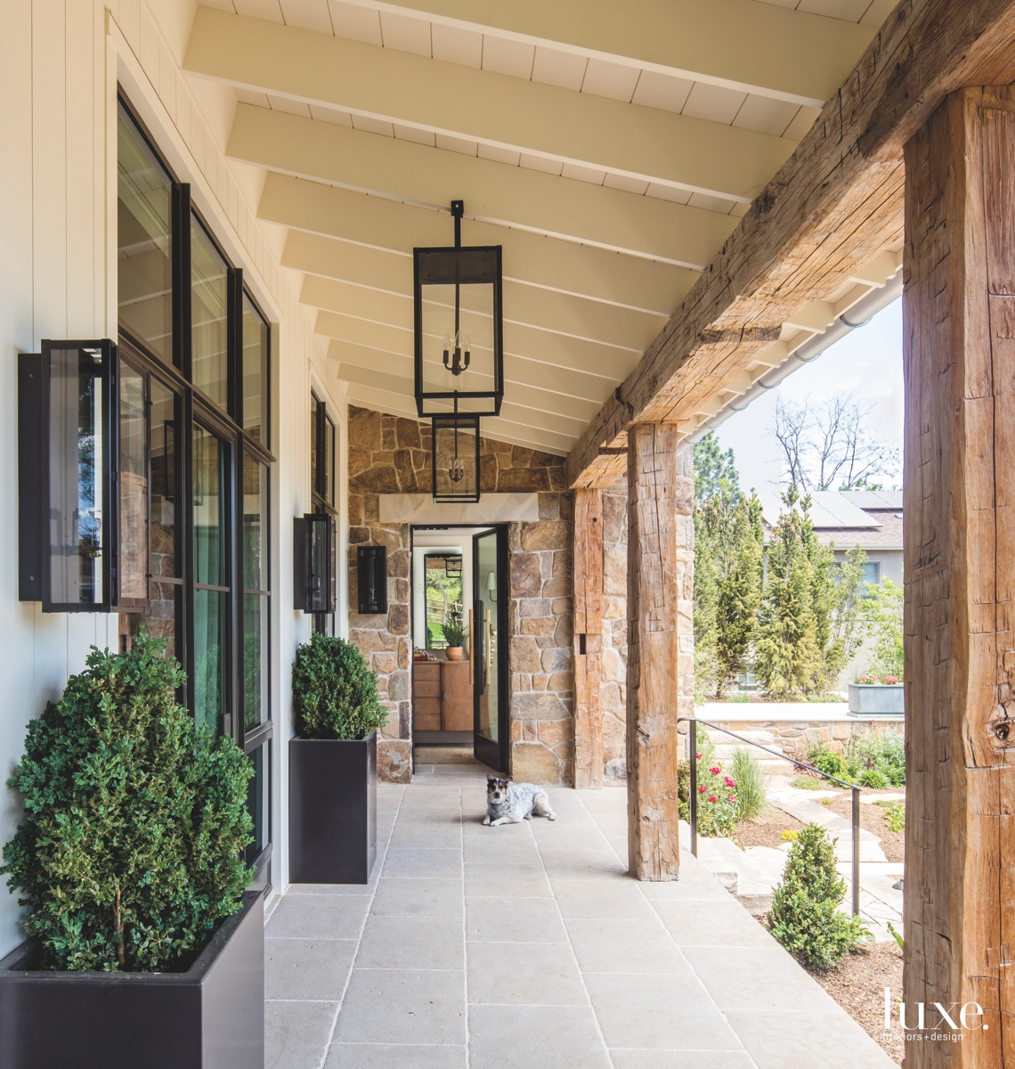 modern exterior entry hall