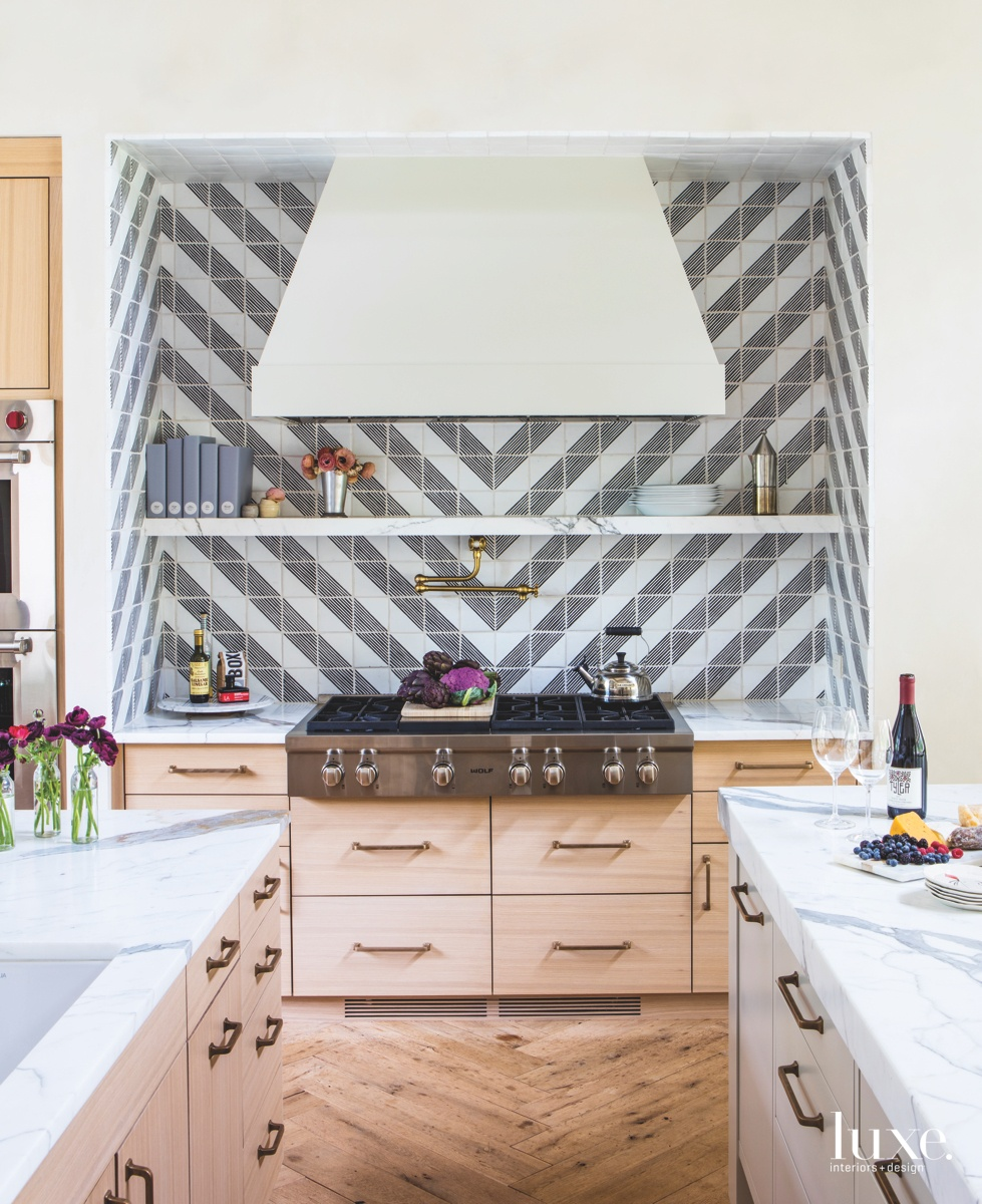 modern kitchen chevron graphite and...