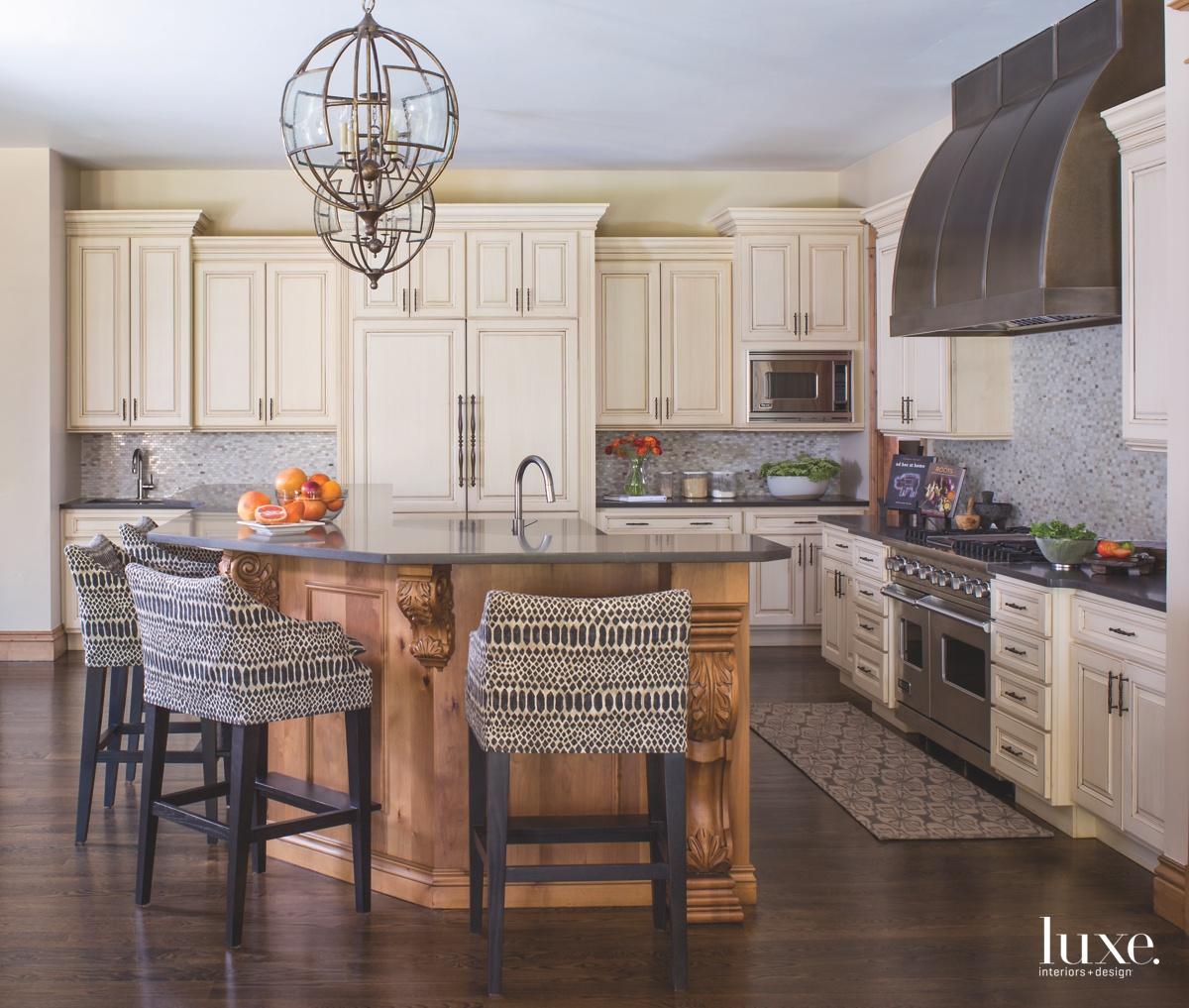 contemporary kitchen neutral gray countertops...