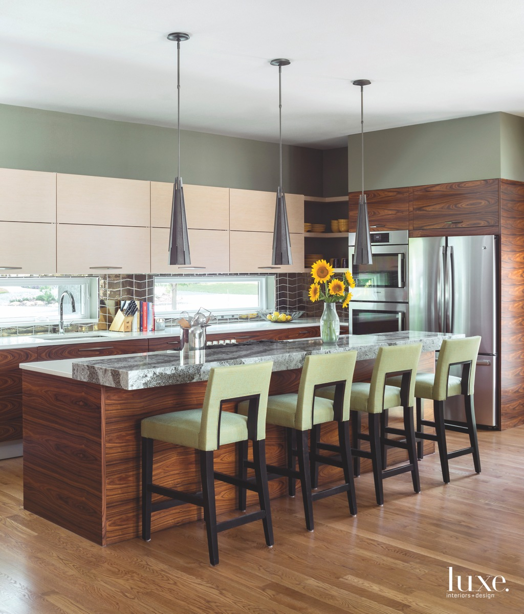 modern kitchen green chairs rosewood...