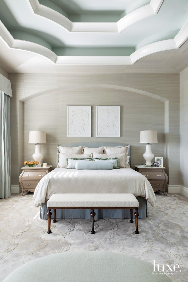 traditional neutral bedroom