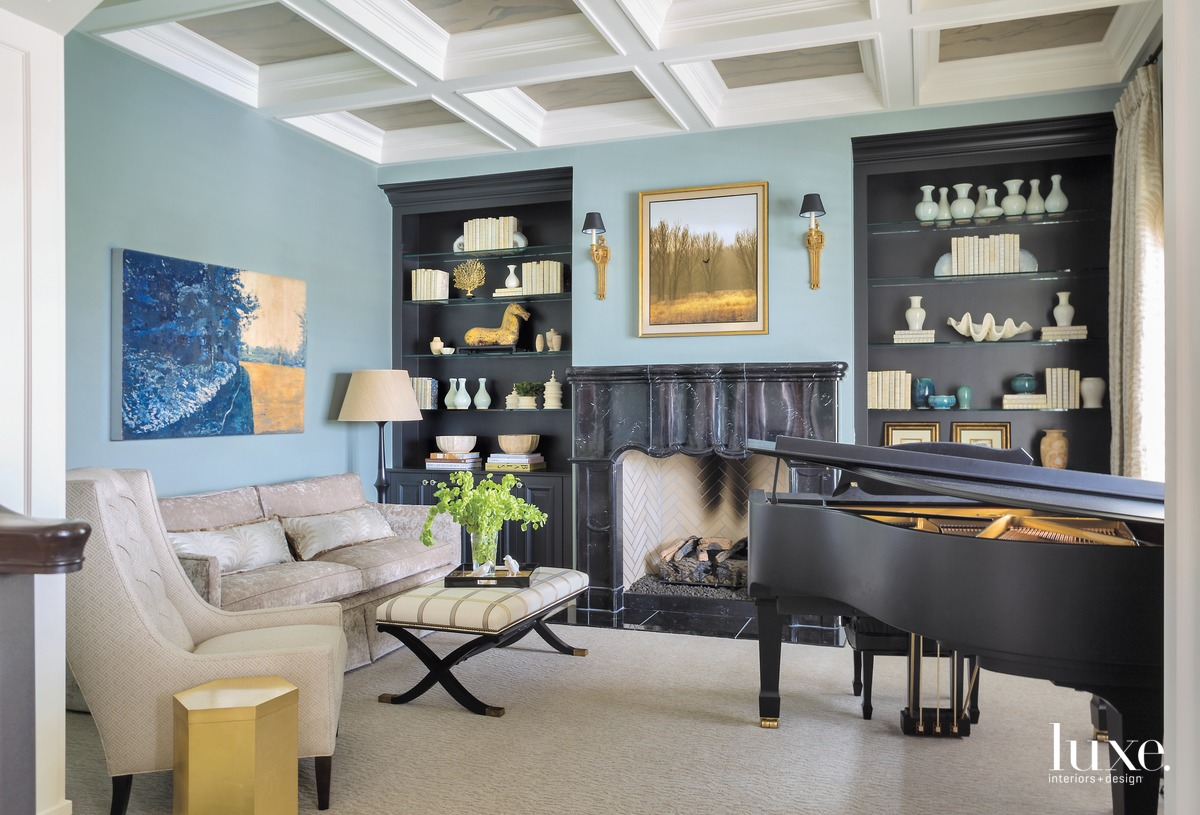 traditional living area music room...