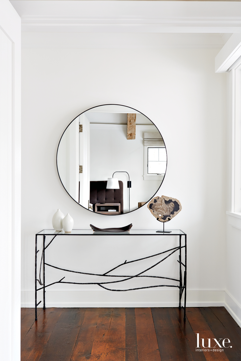 transitional entry to bedroom mirror...