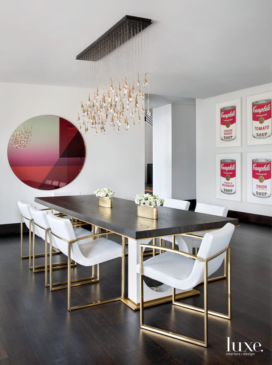 contemporary dining room white with...