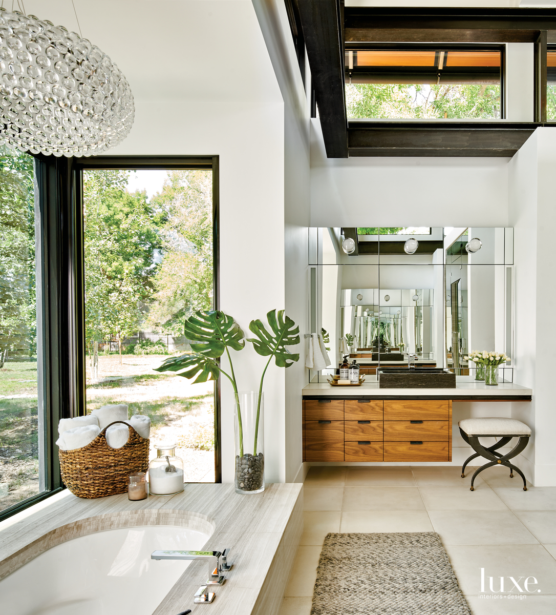 contemporary bathroom neutral palette