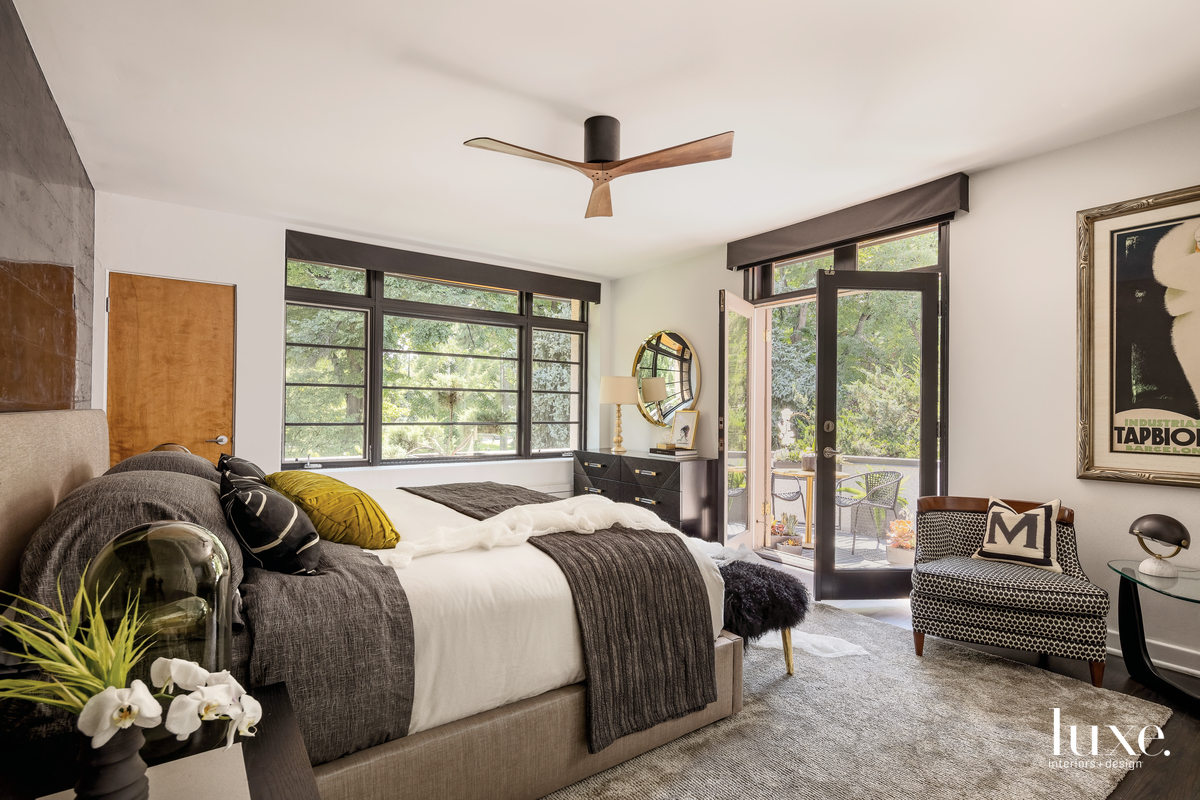 contemporary bedroom gray neutral palette