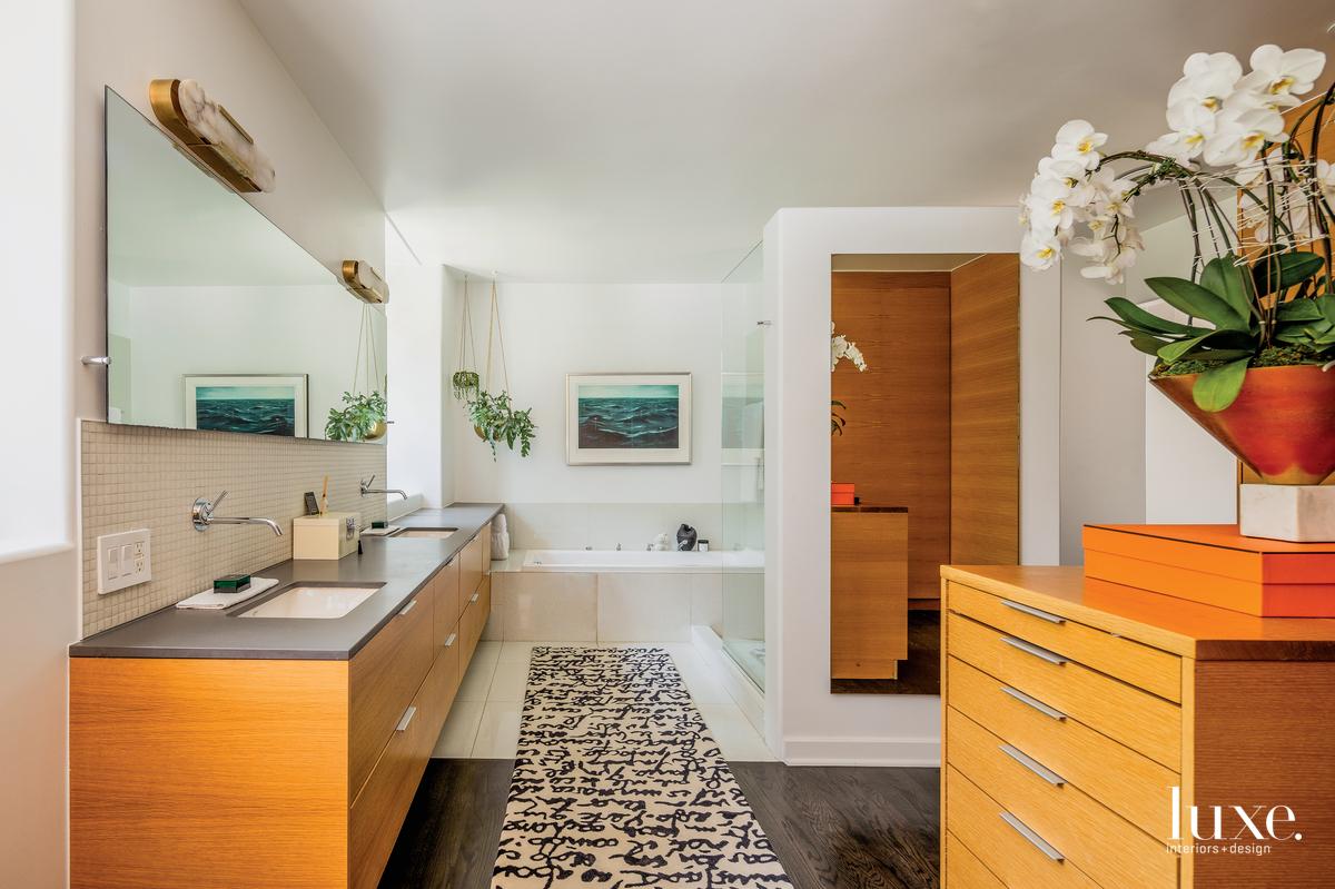 contemporary bathroom neutral palette