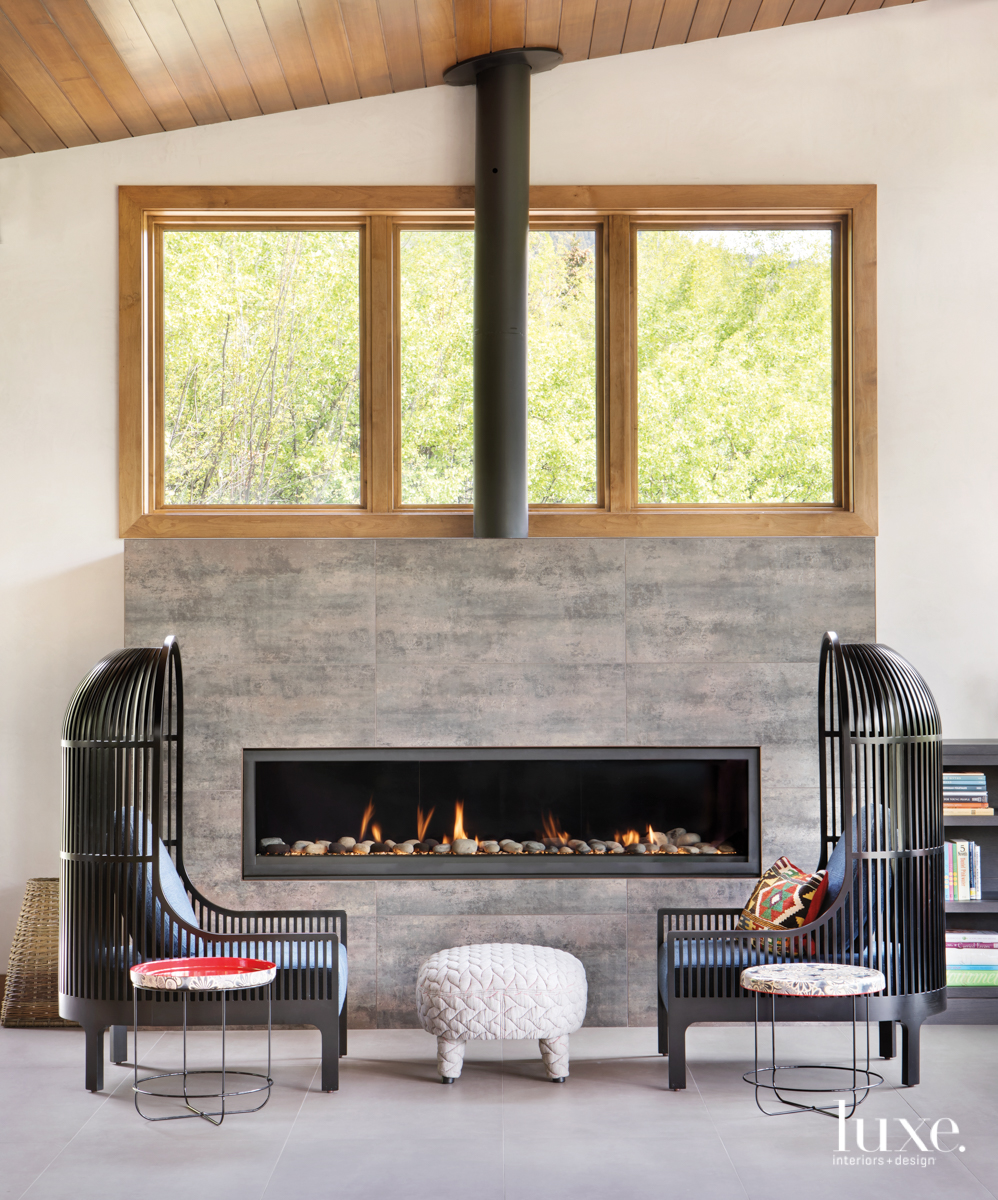modern sitting area fireplace
