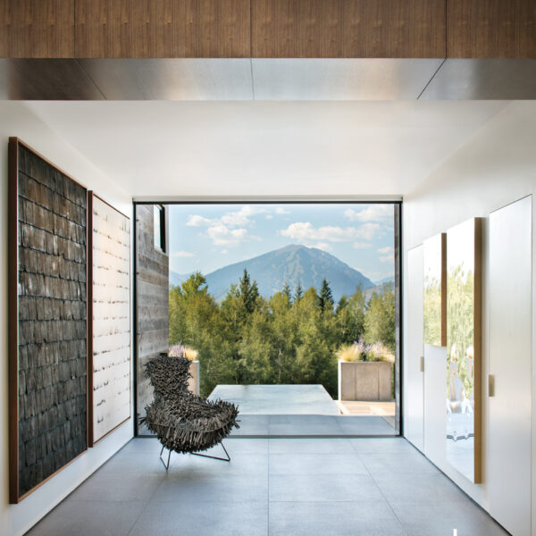 A Modern Aspen Home Plays Up Art And Material