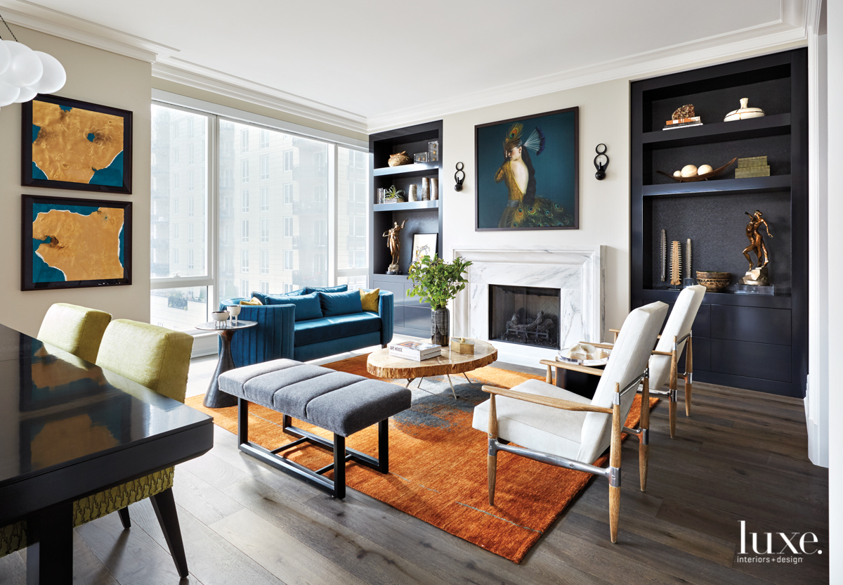 Bold Colors Play A Starring Role In A Chicago High Rise Luxe Interiors Design