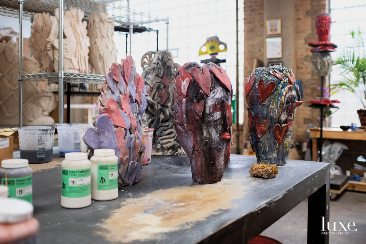 "O'Brien treats his sculptures as ""living paintings."""