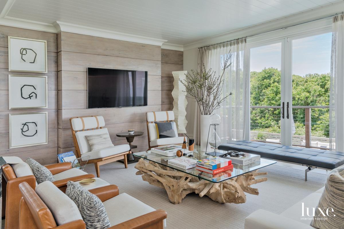 transitional living room neutral palette...