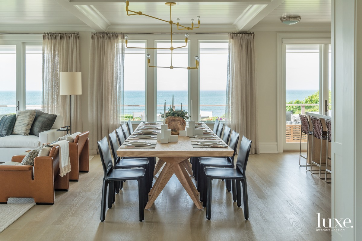 transitional dining room rope chandelier