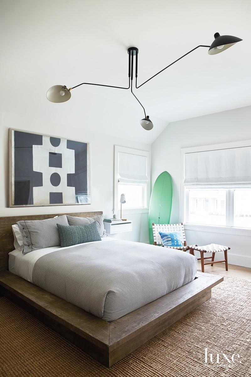 modern bedroom neutral palette gray...