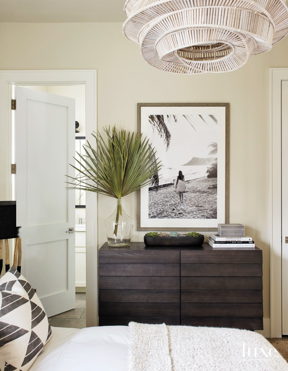 modern neutral bedroom photograph