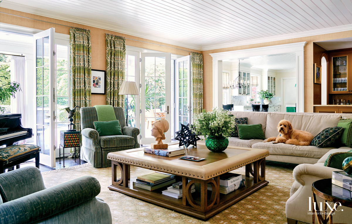 traditional living room neutral with...