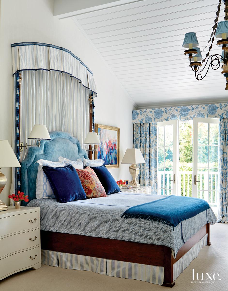 traditional bedroom blue palette