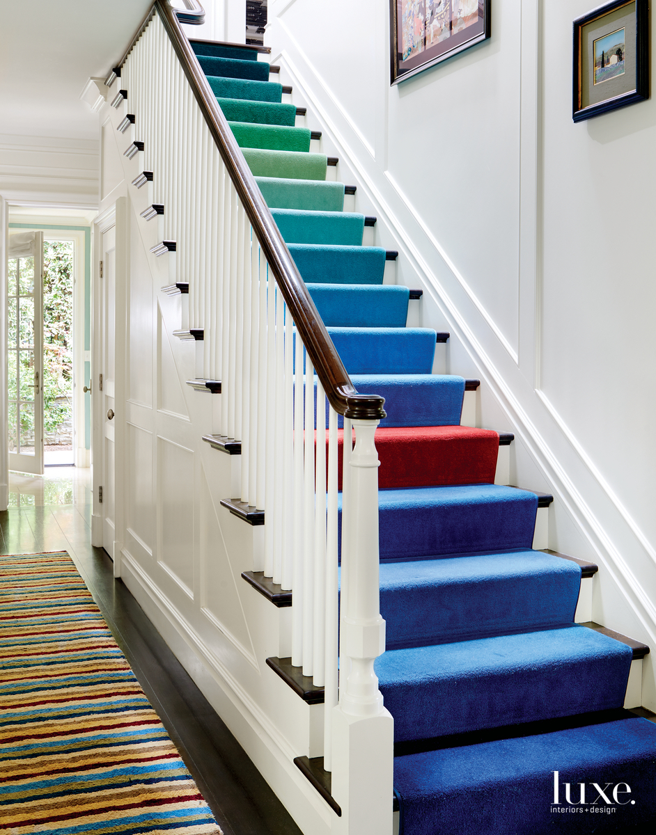 traditional multi-color staircase
