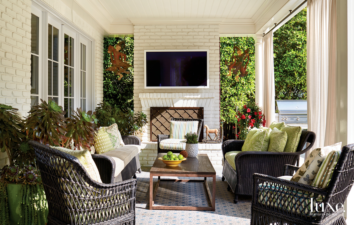 traditional outdoor patio sitting area...