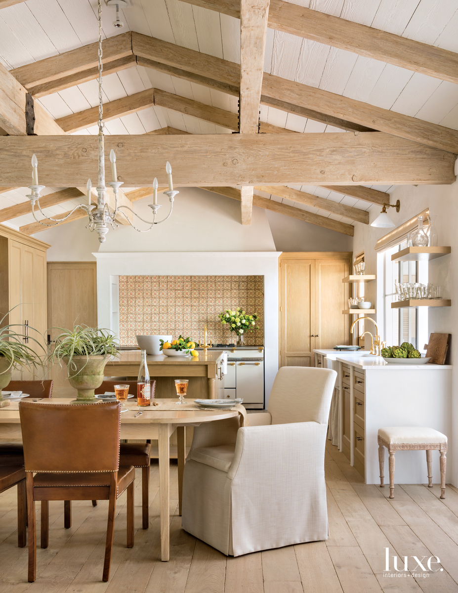 rustic neutral dining area by...
