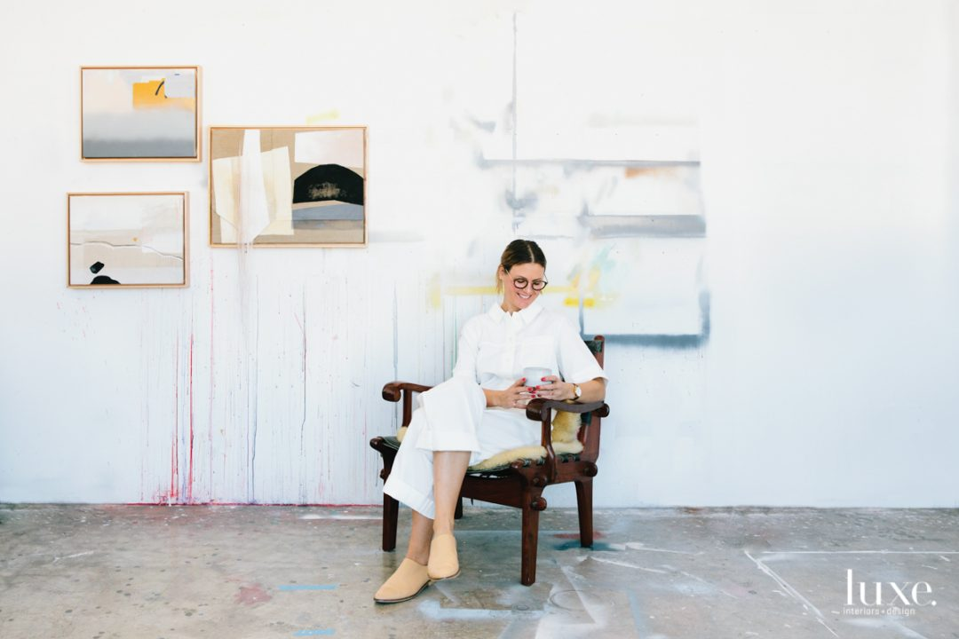 Artist Nike Schroeder works out of a studio in downtown Los Angeles.