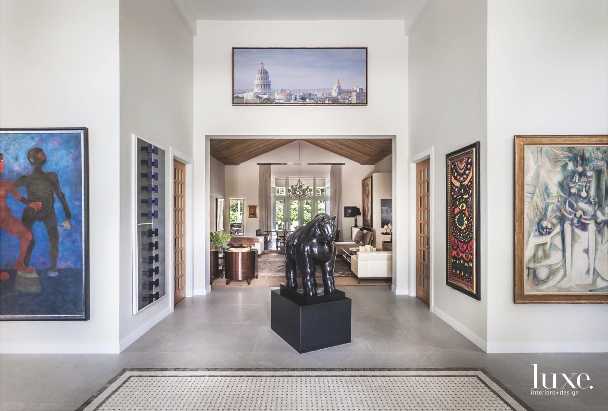 modern foyer entrance hall bronze...