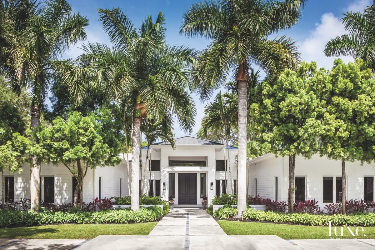 modern exterior entry white landscape