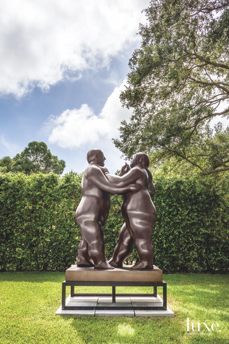 modern bronze sculpture landscape