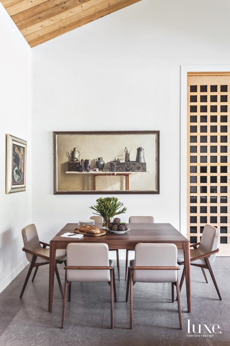 modern dining area minimalist furnishings...