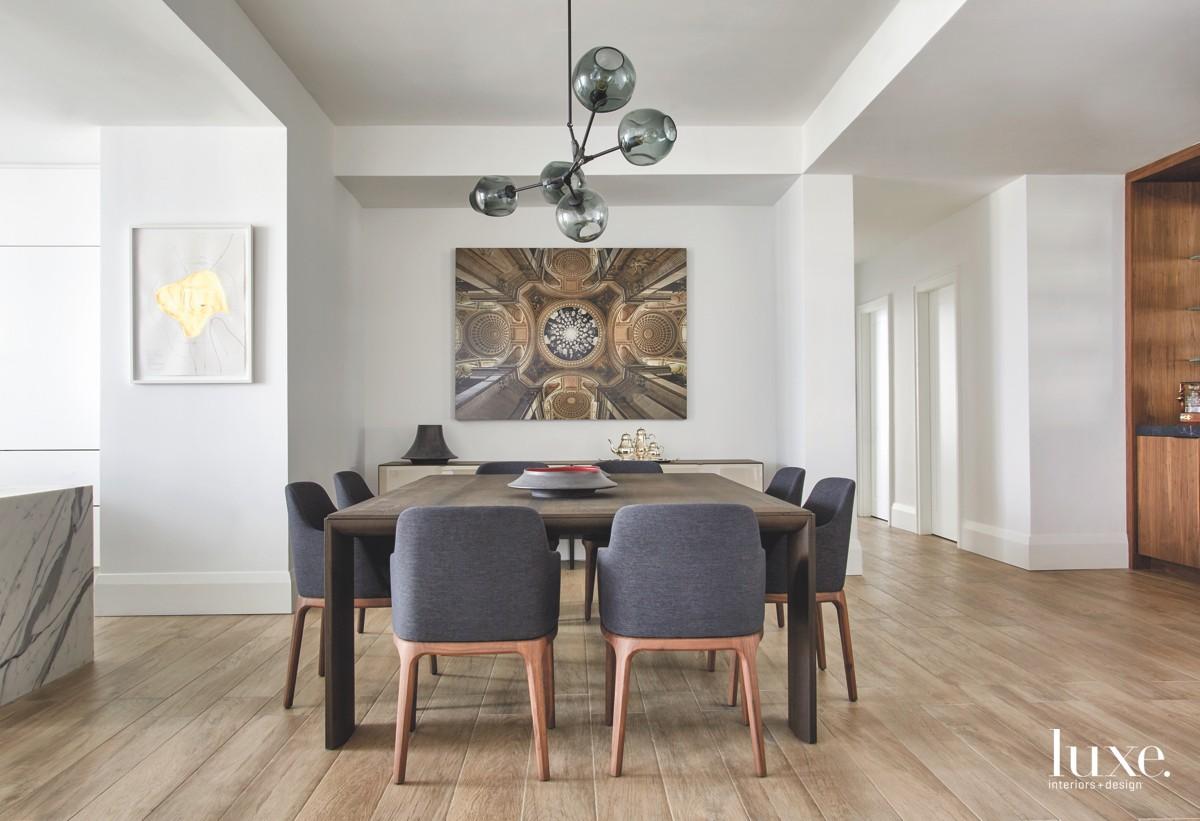 contemporary dining room neutral black...