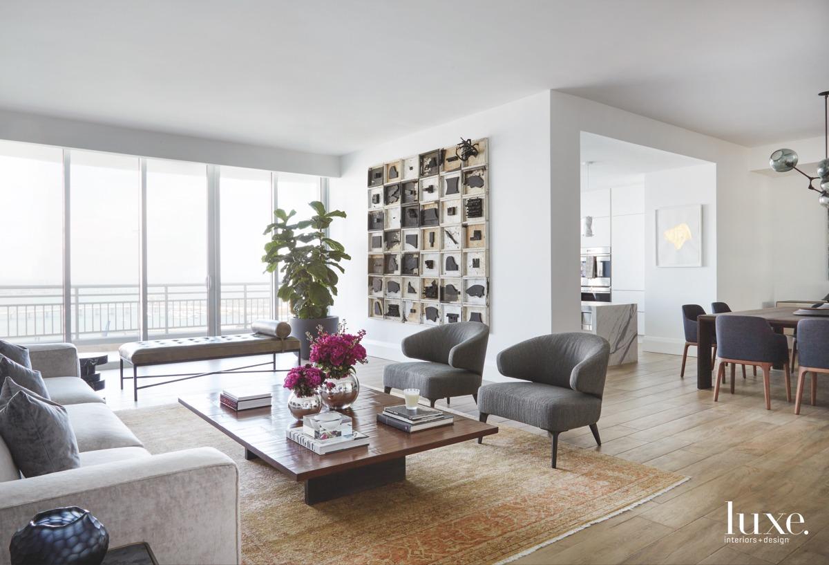 contemporary neutral living room gray...