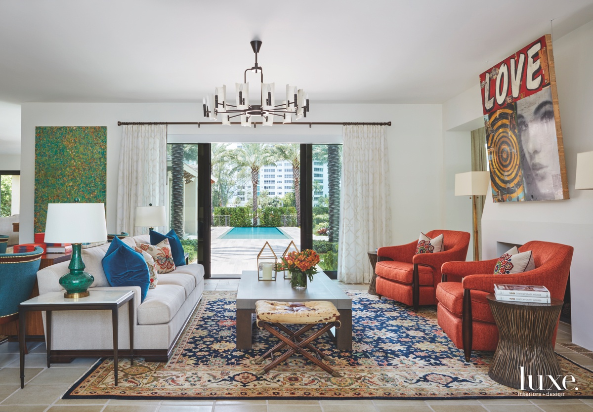 eclectic great room multi-color