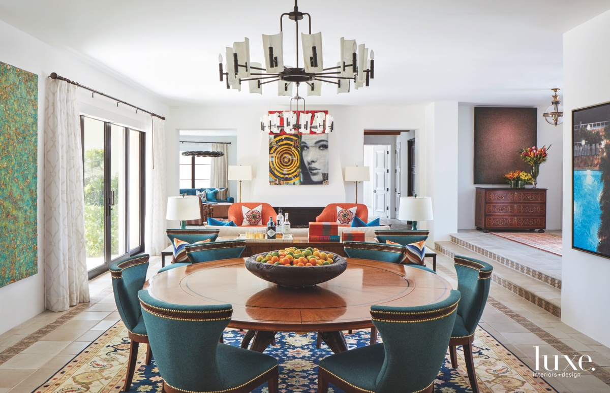 eclectic multi-color dining room great...